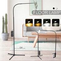8W 26 LED Floor Lamp White & Warm White Dimmer USB Desk Reading Light Fixture 5V/AC110-240V for Bedroom DecorTriangle Floor Lamp
