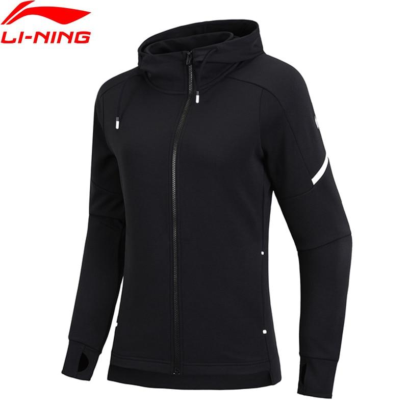 (Break Code)Li-Ning Women Training Hoodie 100% Polyester Regular Fit 3D Fitting LiNing Li Ning Sports Jacket AWDN888 WWW994