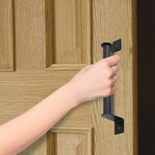 Manillas de puertas negras mate de acero al carbono con manija americana para puertas, puertas, garajes, graneros, galpones, armarios