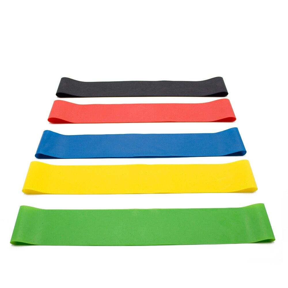 Резиновые ленты для йоги, эластичные ленты для фитнеса 0,3 мм-1,1 мм, тренировочная резинка для фитнеса, пилатеса, спортивное оборудование для кроссфита и тренировок-2