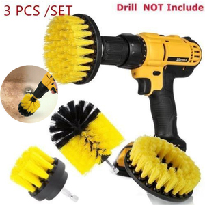 Hot Sale Electric Drill Brush Kit Tile Grout Scrubber Cleaning Drill Nylon Brushes Tub Cleaner Kit Wood Grinding Polishing Tool