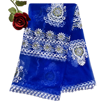 2020 New African women scarf muslim embroidery net scarf hijab scarf big size scarf for shawls BM956