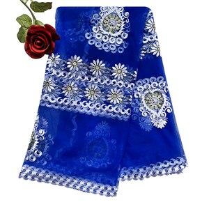 Image 1 - 2020 Новая африканская Женская шаль мусульманская вышивка шарф из тюли хиджаб шарф мусульманский шарф больших размеров для шали BM956