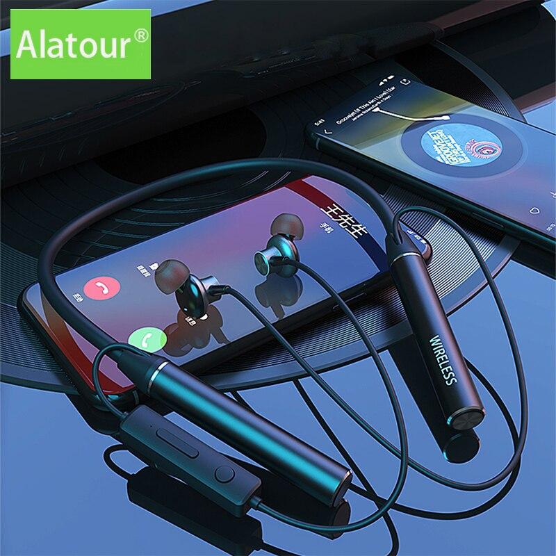 TWS беспроводные Bluetooth-наушники, магнитная спортивная Гарнитура для бега, 100 часов работы, водонепроницаемые спортивные наушники-вкладыши, на...