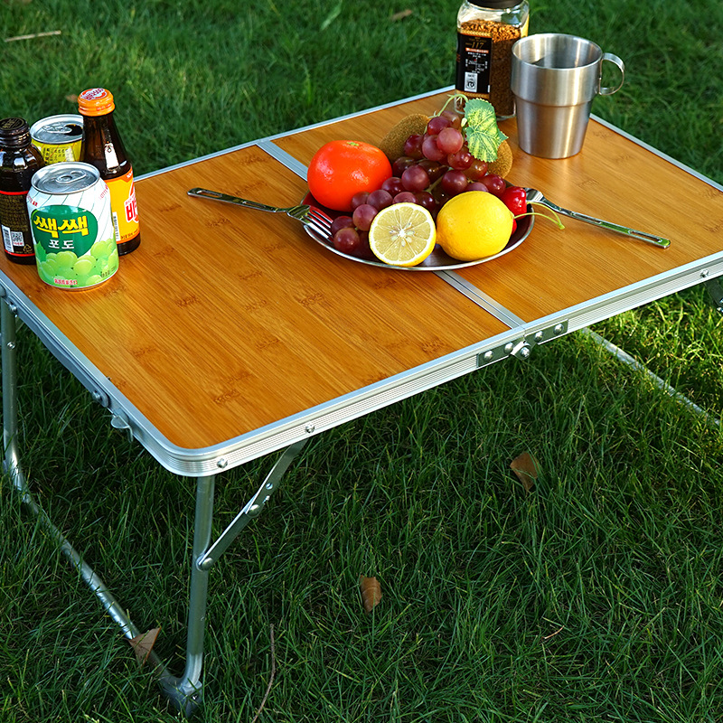 Mini Folding Table Outdoor Camping Bamboo Allegro Table Portable Hand Picnic Barbecue Small Table Bed Computer Desk