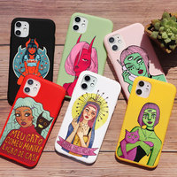 Devil girl-funda de teléfono con diseño de Ángel para iPhone, funda de silicona suave de TPU para iPhone 11 pro max 6s 8 6 5 7 Plus 5s 7S X XS MAX XR
