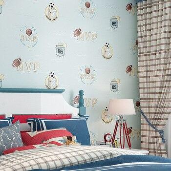 Environmentally Friendly CHILDREN'S Room Non-woven Wallpaper Boys and Girls Room Kindergarten Nursery Mediterranean Style Coinin