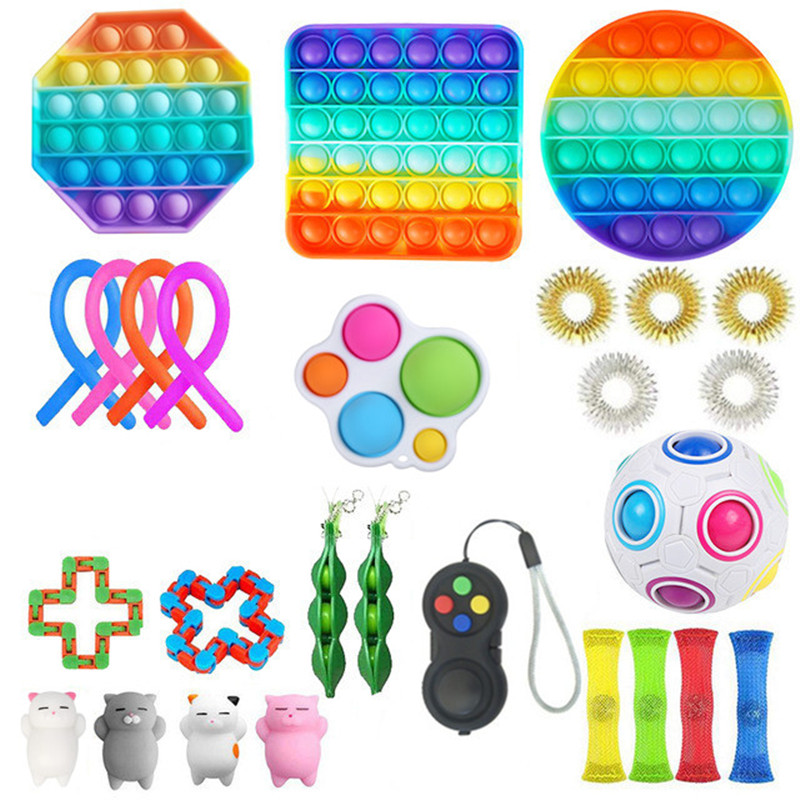 Fitget Toy Toy-Pack Fidget-Toys Antiestres-Chain Work-Stress Relieve Puzzle Sensory Adult