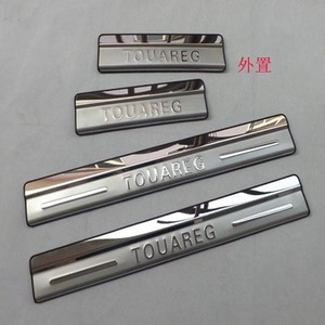 High quality for Volkswagen Touareg 2011-2018 stainless steel Mirror Car door cover outside door sill plate Car styling