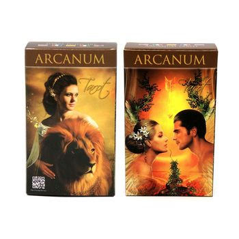 Full English Arcanum Tarot 78 Cards Deck Oracle Playing Card Party Board Game 24BD недорого