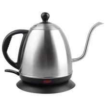 Eu Plug,Hand-Washed Coffee Pot Set Kettle Electric Coffee Pot Barista Special Drip-Type Fine Mouth Pot 1L Long Mouth Pot цена