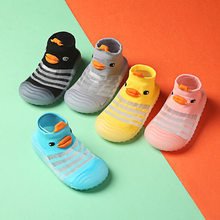 Yg 2021 spring and summer new net face cute baby walking shoes baby boys girls non slip shoes socks floor shoes