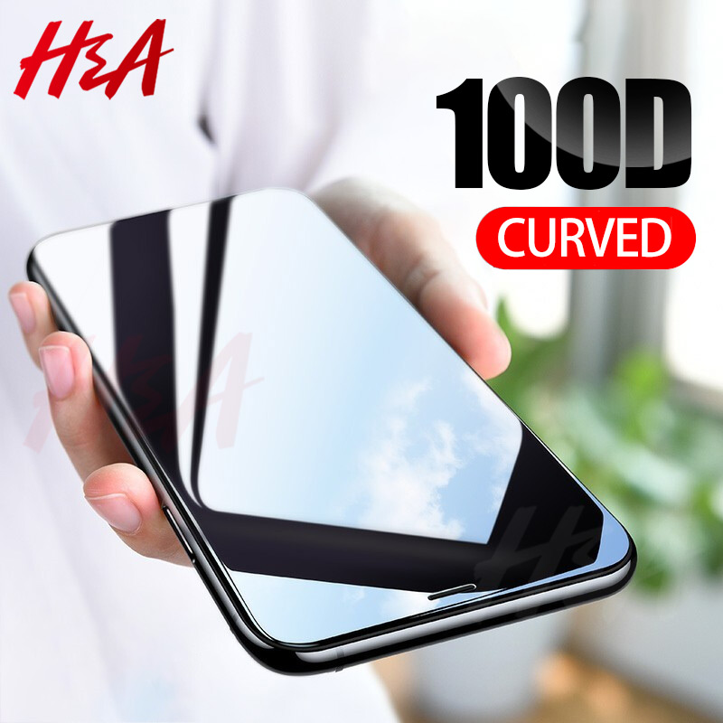 100D Curved Edge Tempered Glass On The For IPhone 8 7 6 6s Plus Screen Protector For IPhone 11 Pro X XR XS Max Protective Glass