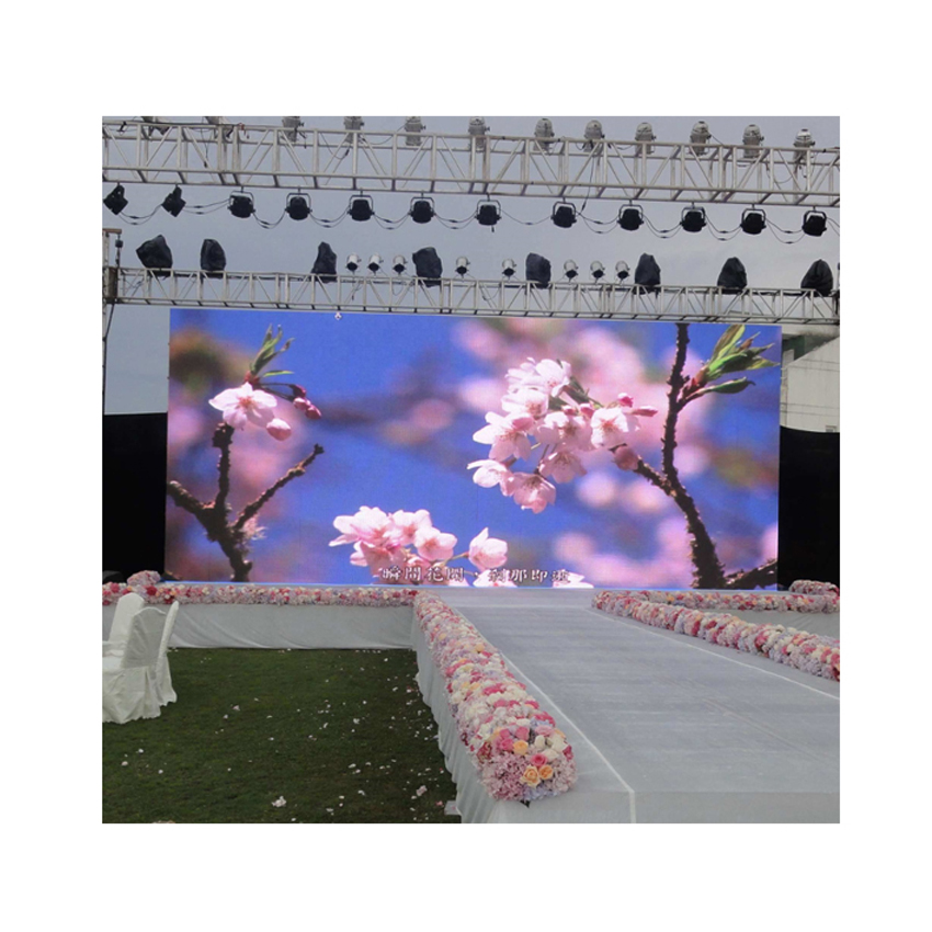 Outdoor P3.91 SMD1921 RGB LED Panel 500x1000mm Die Cast Aluminum Cabinet, Led Video Wedding Billboard Screen