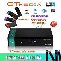 Hot sale Gtmedia V8X Satelite Decoder DVB-S2 Updated Gtmedia V8 Nova V8 Honor h.265 1080P Built in wifi GTmedia V9 Super no app