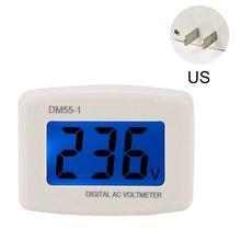 DM55-1 Digital LCD Voltage Test Monitor AC 80-300V Plug In Volt Meter Voltmeter