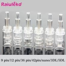 50 Stuks Schroef Cartridge Vervanging Micro Naald Stempel Elektrische Auto Microneedle 9 Pin/12 Pin/36 Pin Voeding import Tool