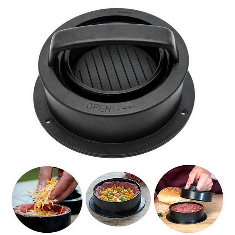 Mold Hamburger-Maker Beef-Grill Chef-Cutlets Meat Non-Stick Round-Shape