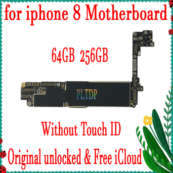 New Arrival Original Motherboard For iPhone 8 4.7inch 64GB 256GB , Free iCloud Factory Unlock Mainboard with/without Touch ID