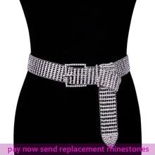 Super Shiny womens rhinestone belt bling crystal diamond Belt waist chain Gold Sliver Wedding Bridal Rhinestones Belts