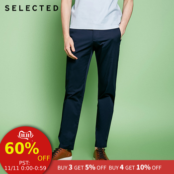 SELECTED slight stretch Cotton-blend splicing leisure long pants S|4181W2503 - DISCOUNT ITEM  58 OFF Men\'s Clothing
