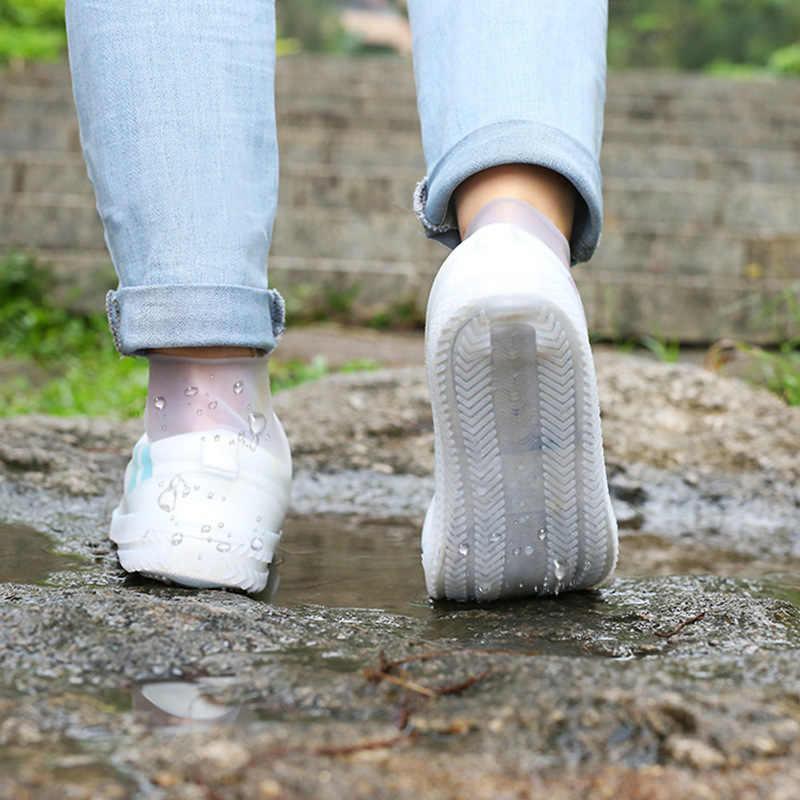 Một Đôi Silicone Cả Đôi Giày Có Thể Tái Sử Dụng Chống Nước Nam Áo Mưa Giày Đi Mưa Chống Trơn Trượt Có Thể Rửa Được