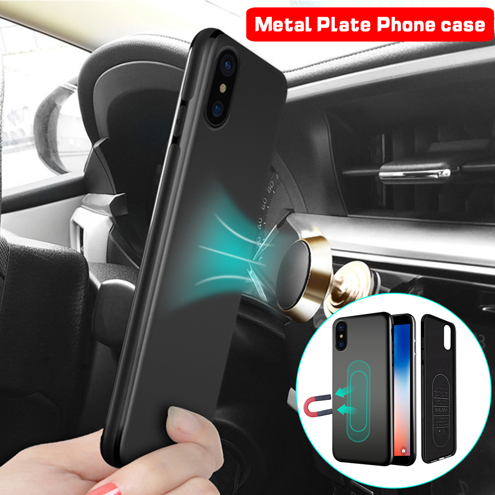 Magnetic Car Holder Case For iPhone Xs Max Xr X 8 7 6 Plus 11 Pro Soft Silicone Magnet Cover for Samsung S10 Huawei P20 P30 Lite