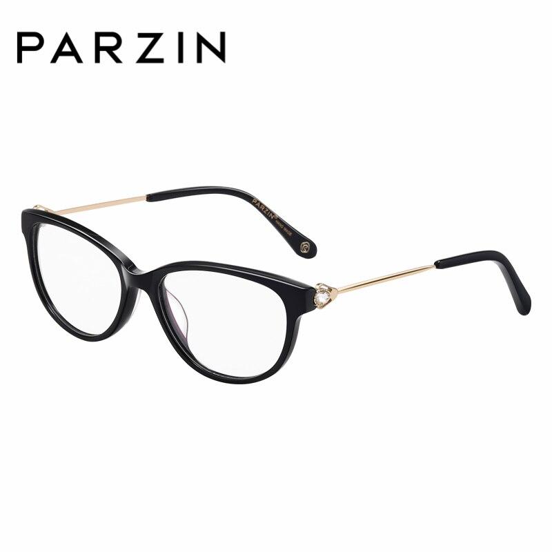 PARZIN Women Optics Myopia Frames With Clear Lens Brand Design Prescription Glasses Online Shop 56002