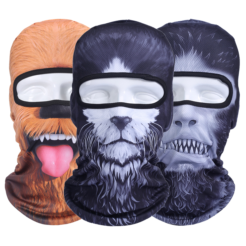 Balaclava Motorcycle Full Face Mask 3D Animal Cat Dog Hats Helmet Windproof Airsoft Paintball Snowboard Cycling Ski Halloween-in Motorcycle Face Mask from Automobiles & Motorcycles