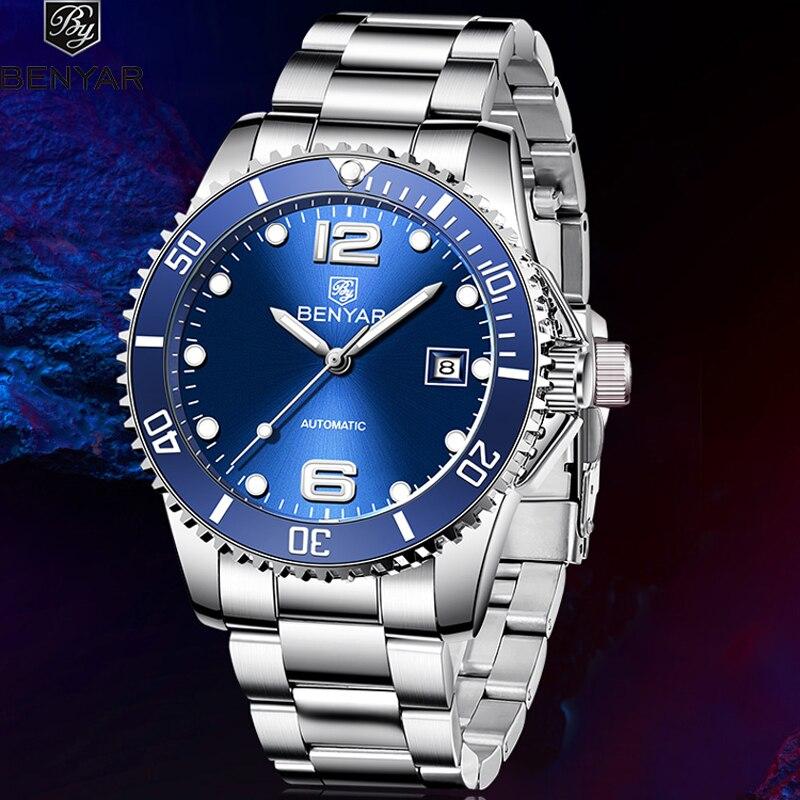BENYAR men's mechanical watches Top brand luxury watch men Automatic Business Watch Men Male Wristwatch Waterproof Reloj Hombre