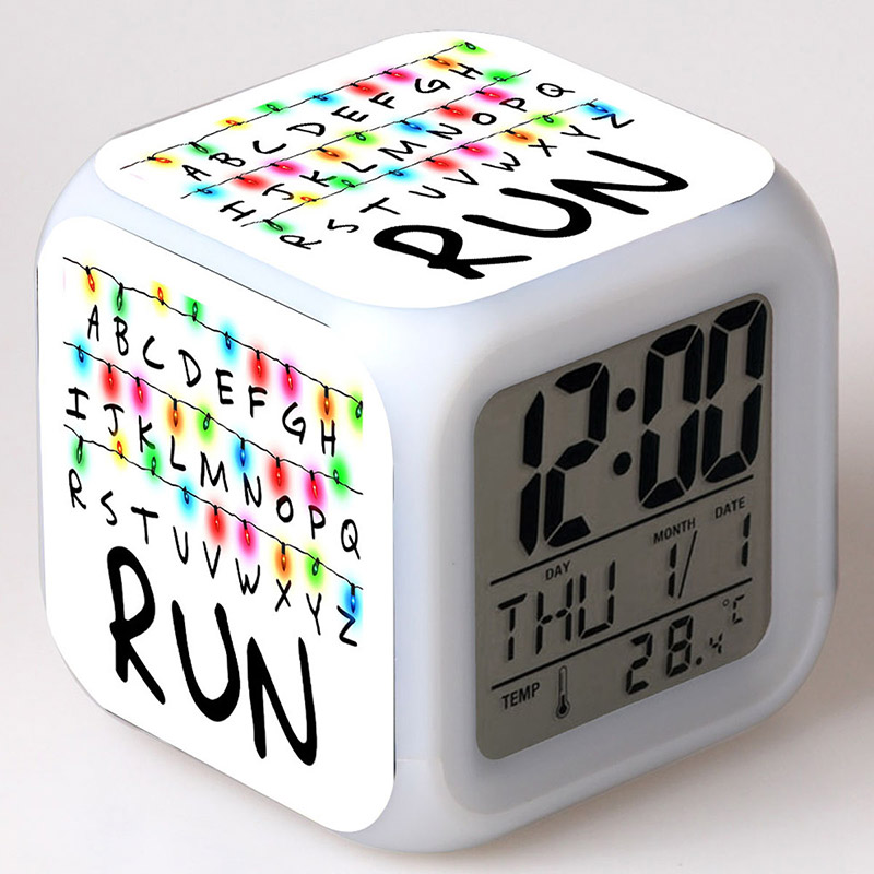 Stranger Things 2 Eleven Figure LED Clock Alarm Colorful Touch Light  Desk Watch Stranger Things Figurine Toys