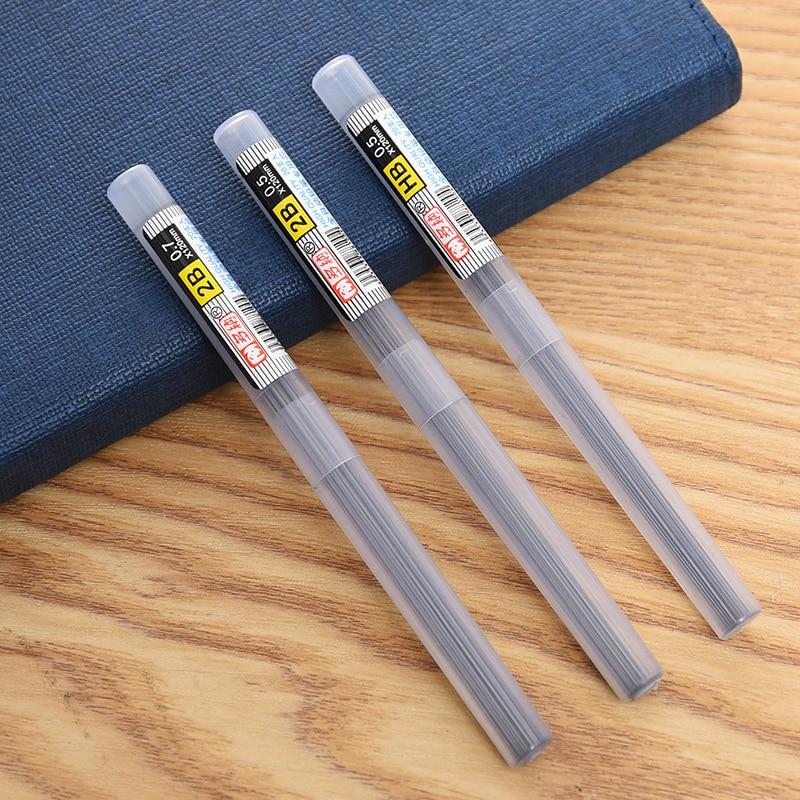 Прямая поставка с фабрики черная трубка Dona 110 мм/2H/2B / HB свинцовая запасная трубка 0,5 мм/0,7 мм автоматический тест Запасной карандаш