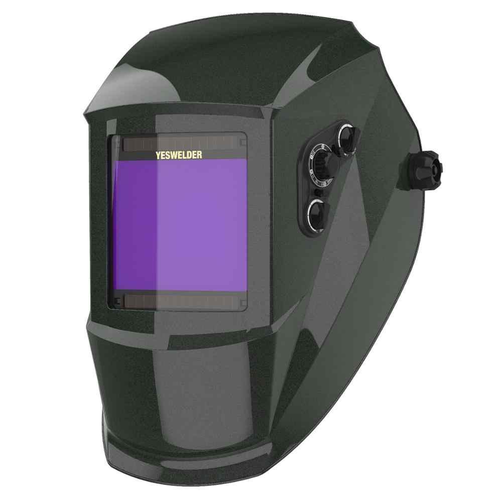 YESWELDER True สีหน้ากากพลังงานแสงอาทิตย์เชื่อม HELMET Auto Darkening เชื่อมสำหรับ TIG MIG ARC EH-091X-G/R