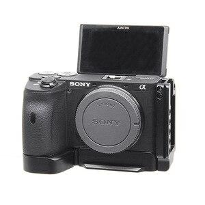 Image 5 - Kamera Käfig für Sony a6600 Pro Kamera Käfig L Quick Release Platte Doppel Kopf Kalten Schuh Stabilisator Rig Käfig Für sony EINE 6600