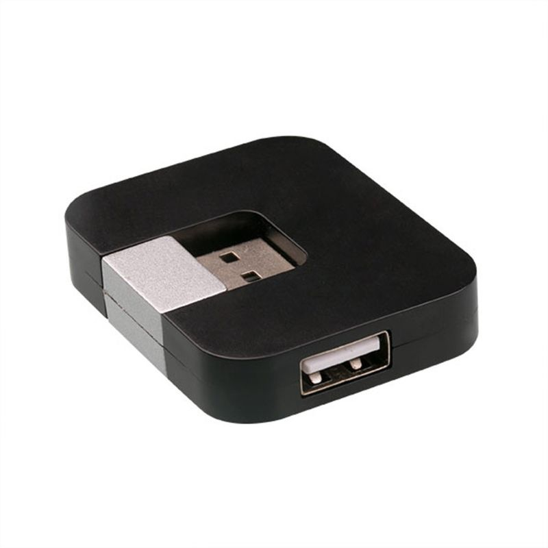 2.0 4-Port USB Collapsible Distributor Multi Hub Splitter Power For PC laptop