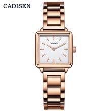 Cadisen Mode Vierkante Horloges Dames Vrouwen Luxe Eenvoudige Analoge Quartz Horloge Vrouwelijke Staal Waterdicht Bedrijvengids Horloge 2043