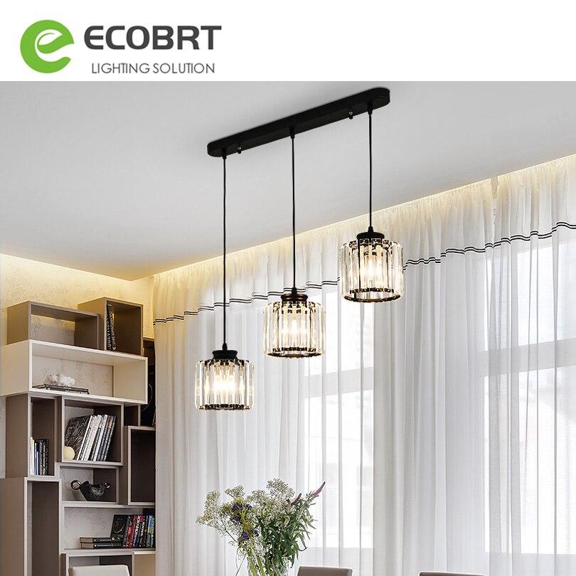 Современный светодиодный подвесной светильник с кристаллами s, черный/золотой подвесной светильник с 3 головками, для бара, учебы, столовой,