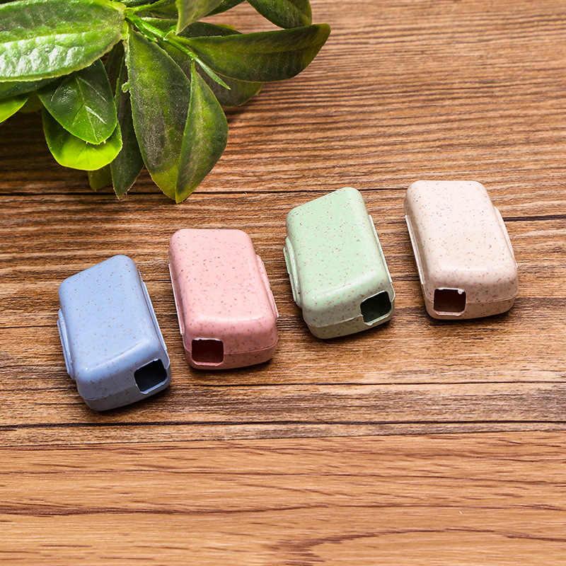 4 stks/set Draagbare Reizen Tandenborstel Cover Wasborstel Cap Holder Box Verpakking en opslag Reizen Accessoires