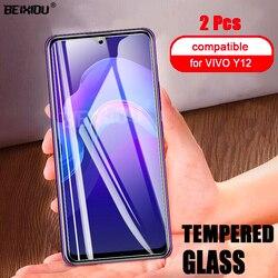 На Алиэкспресс купить стекло для смартфона 2 pcs full tempered glass for vivo y12 screen protector 2.5d 9h tempered glass for vivo y12 protective film