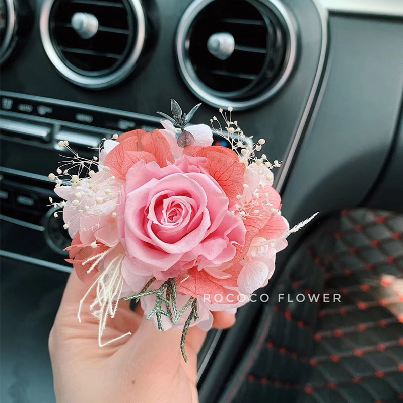 High-end Car Air Freshener Creative Eternal Flower Car Air Conditioning Outlet Aromatherapy Clip Perfume Car Interior Decoration