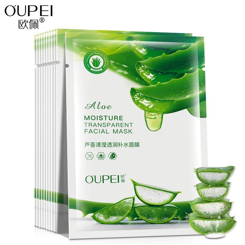 Aloe Vera Face Mask Moisturizing Facial Mask Relaxing Sheet Mask Skin Care  Korean Makeup  Unisex Acne Treatment  Oil-control
