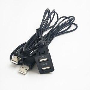 Biurlink 150 CENTÍMETROS Car Traço Painel Flush Mount duas Portas USB Auto Boat Dual Adaptador de Cabo de Extensão USB para Volkswagen toyota|Cabos  adaptadores e soquetes| |  -