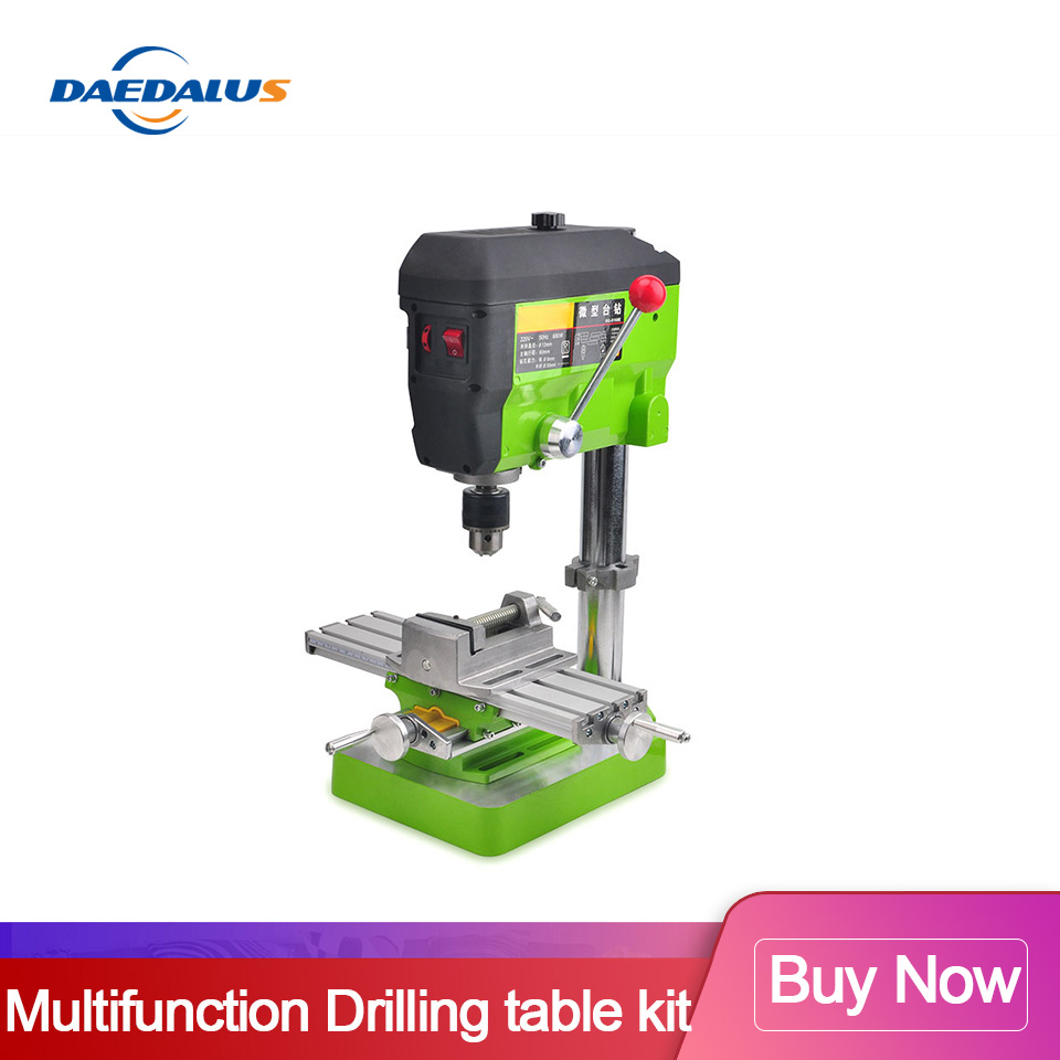 Drilling Table Kit Multifunctional 6330 Worktable XY Axis Table+ Drilling Machine + Vise For Adjustment Coordinate Woodworking