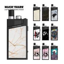 Magic Shark Captain American Journey to the West Stone Game of Thrones Skin Vape Kit Case Film Sticker for Smok Trinity Alpha(China)