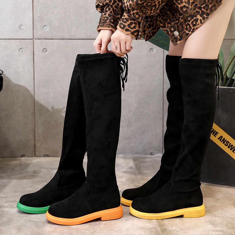 FEDONAS Akın Kadın binici çizmeleri Kış sıcak Uzun Çizmeler Yüksek Topuklu Gece Kulübü Ayakkabı Kadın Sxey Kadınlar Diz Yüksek çizmeler
