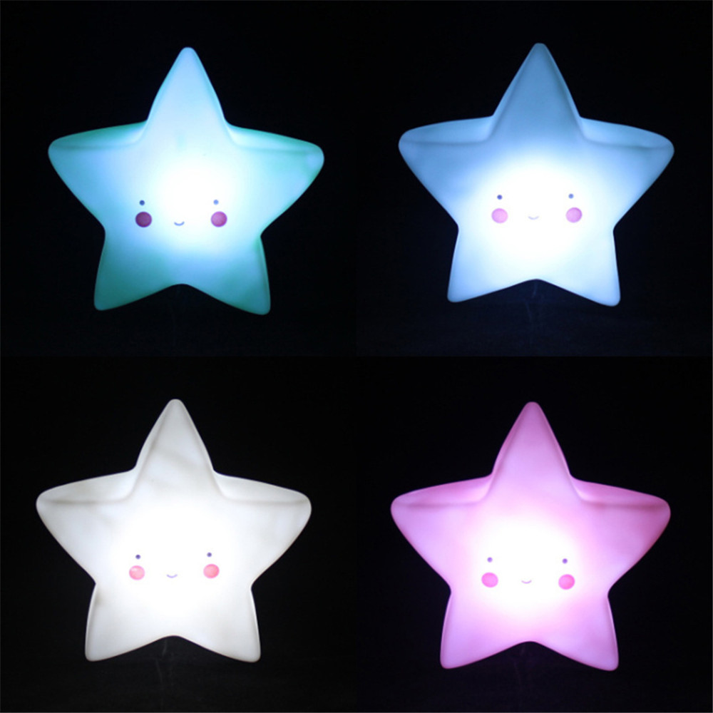 Led Night Lamp Baby Children's Room Decoration Bed LED Toy Bedroom Decoration Star Shape Light Baby LED Children's Night Light
