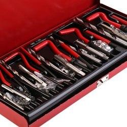 DE 131 шт./компл. Прочный инструмент для ремонта ниток Helicoil Rethread, набор для ремонта гаражных мастерских, профессиональный инструмент для ремон...