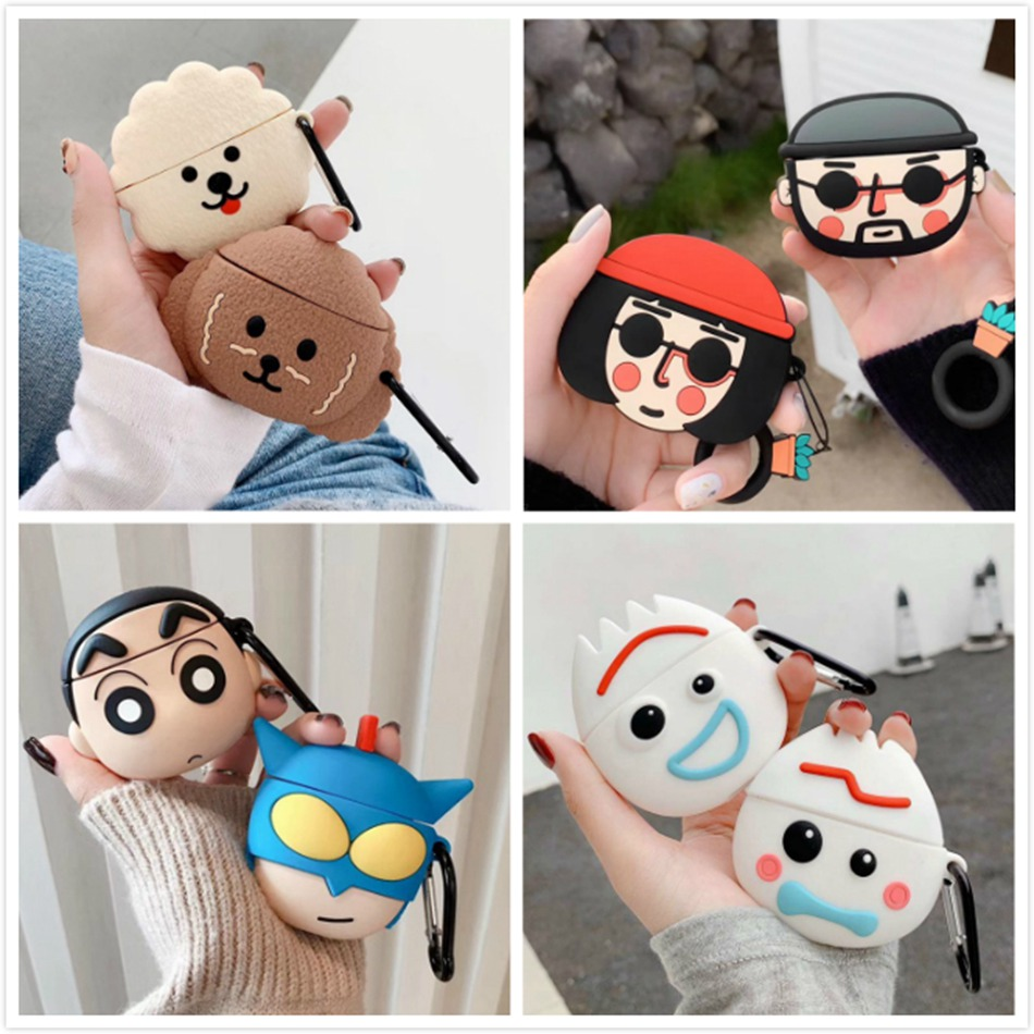 3D Earphone Case For Airpods Pro Case Silicone Butt Cat Cartoon Headphone/Earpods Cover For Apple Air Pods Pro 3 Case Keychain