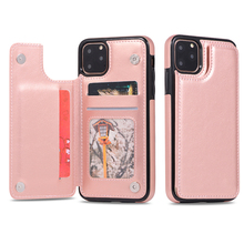 Retro Leather Case For iPhone 11 Pro Max  Flip Card Holder Wallet Magnetic Back Cover Phone X XR XS 8 7 Plus