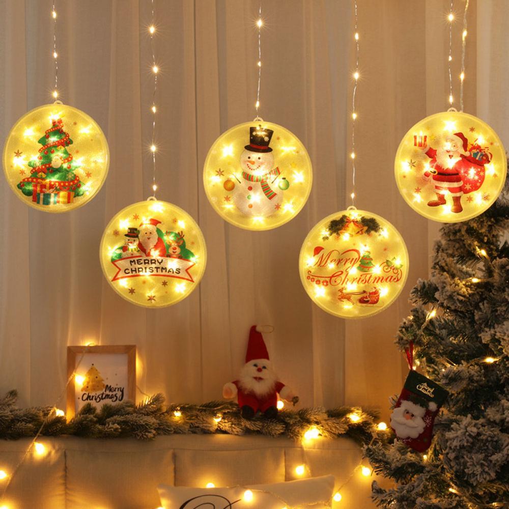 Рождественская гирлянда, 113 светодиодный, рождественские украшения, новинка, подвесные 3D гирлянды с USB для праздника вечерние, Рождественский Декор|Светодиодная лента| | АлиЭкспресс